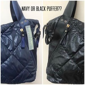 Medium Puffer Tote by SR Navy or Blk?,NWT